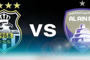 نتيجة وملخص أهداف مباراة العين الإماراتي ووفاق سطيف الجزائري اليوم في البطولة العربية للأندية بجودة عالية HD