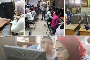 معامل جامعة القاهرة تشهد إقبال كبير من الطلاب لتسجيل الرغبات بالمرحلة الثالثة للتنسيق
