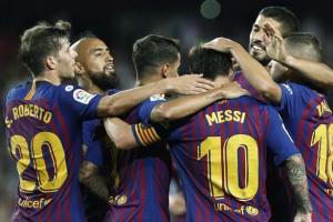 برشلونة يتلقى أولى ضربات التوقف الدولي