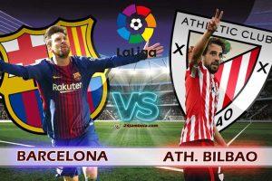 نتيجة وملخص أهداف مباراة برشلونة وأتلتيك بلباو اليوم في الدوري الاسباني بجودة عالية