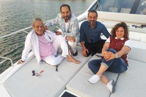 إلهام شاهين تصطحب فاروق الفيشاوي في رحلة بحرية لدعمه نفسيا