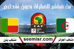 يلا شوت الجديد مشاهدة بث مباشر مباراة الجزائر وبنين اليوم Algeria vs Benin في الجولة الرابعة تصفيات كأس الأمم الأفريقية