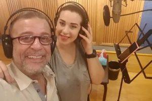 اقتراب برنامج أنا وبنتي من الانطلاق وشريف منير يسجل التتر مع ابنته أسما