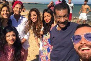 احتفالات رأس سنة تتسبب في إيقاف تصوير أبو العروسة..وغدا يعود الفريق للتصوير