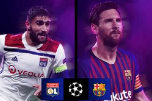 نتجة وملخص أهداف مباراة برشلونة وليون اليوم الثلاثاء 19-2-2019 في دوري أبطال أوروبا