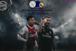 نتيجة وملخص أهداف مباراة ريال مدريد وأياكس اليوم 13-2-2019 في دوري أبطال أوروبا