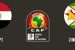 نتيجة وملخص أهداف مباراة مصر وزيمبابوى Egypt vs Zimbabwe اليوم ماتش منتخب مصر في بطولة كأس أمم أفريقيا