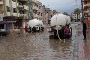 شوارع الغربية تتعطل بسبب الأمطار ورفع درجة الاستعدادات القصوى