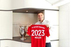 بايرن ميونخ يعلن رسمياً تجديد عقد نجمه توماس مولر حتى عام 2023