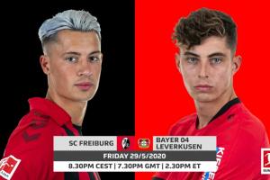 يلا شوت الجديد مشاهدة مباراة باير ليفركوزن وفرايبورج بث مباشر اليوم الجمعة 29-5-2020 في الدوري الألماني