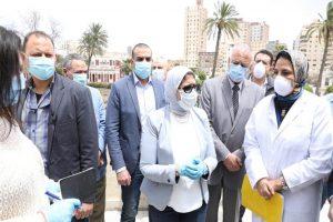وزيرة الصحة في الإسكندرية لمتابعة تقديم الخدمات لمصابي فيروس كورونا
