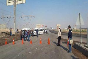 المرور تحذر قائدي السيارات من الاقتراب من طريق الإسماعيلية الصحراوي