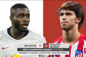 يلا شوت مشاهدة بث مباشر مباراة أتلتيكو مدريد ولايبزيج اليوم الخميس 13-8-2020 في دوري أبطال أوروبا