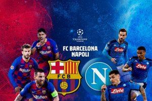 قناة مفتوحة تنقل مشاهدة مباراة برشلونة ونابولي بث مباشر مجانًا علي النايل سات في دوري أبطال أوروبا