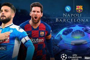 نتيجة وملخص أهداف مباراة برشلونة ونابولي Barcelona vs Napoli يلا شوت الجديد برشلونة في دوري الأبطال 2020 مباشرة