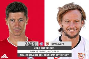 الوقت الإضافي مشاهدة مباراة بايرن ميونخ وإشبيلية بث مباشر اليوم 24-9-2020 يلا شوت الجديد في كأس السوبر الأوروبي