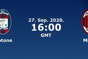 نتيجة وملخص أهداف مباراة ميلان وكروتوني اليوم 27-9-2020 في الدوري الإيطالي