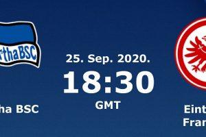 نتيجة وملخص أهداف مباراة هيرتا برلين وآينتراخت فرانكفورت اليوم 25-9-2020 في الدوري الألماني