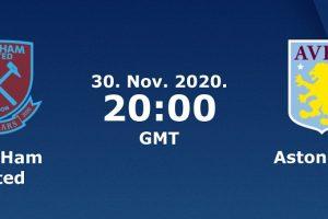 يلا شوت مشاهدة بث مباشر مباراة أستون فيلا ووست هام اليوم الإثنين 30-11-2020 في الدوري الإنجليزي الممتاز