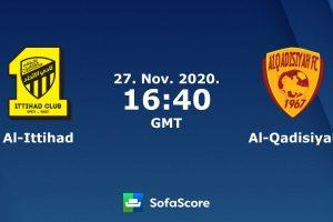 نتيجة وملخص أهداف مباراة الاتحاد والقادسية اليوم 27-11-2020 في الدوري السعودي للمحترفين